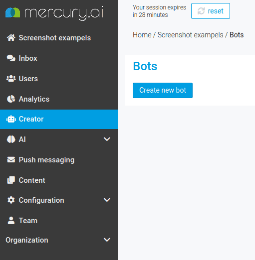 Create a new bot